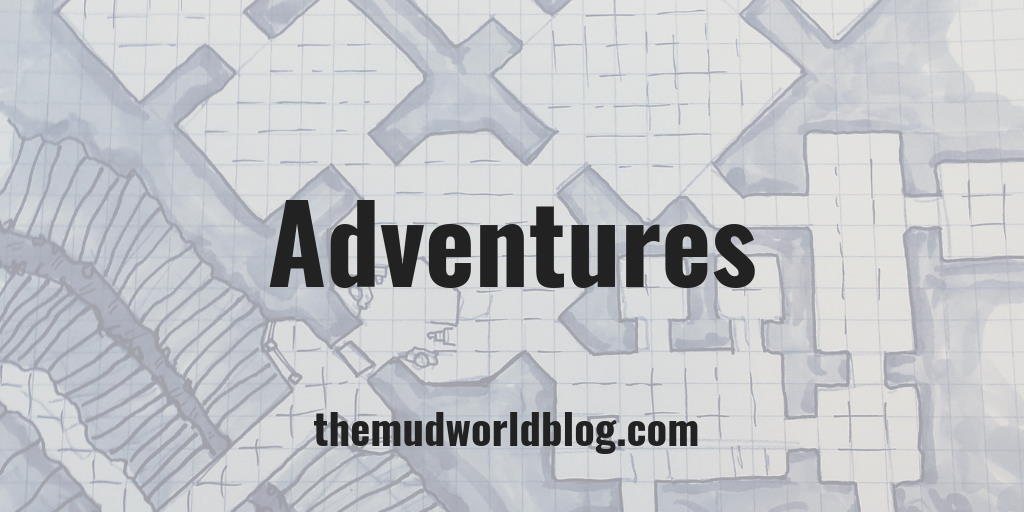 Adventures are maps, locations, story hooks, and NPCs for roleplaying games. Dungeons and Dragons, Pathfinder RPG, Dragon Age, Fantasy Age, Warhammer Fantasy Role-Play, Shadow of the Demon Lord, Adventures in Middle-Earth, you name it.